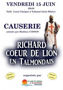 Causerie Richard Coeur de Lion en Talmondais