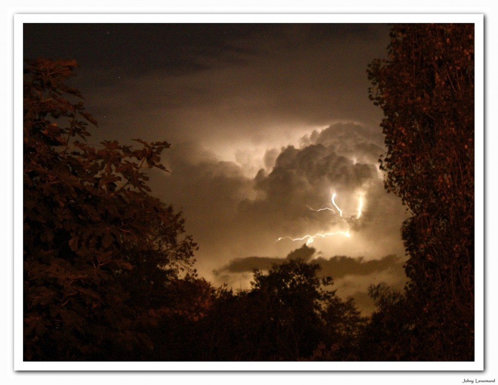 Orage sur la Vendée