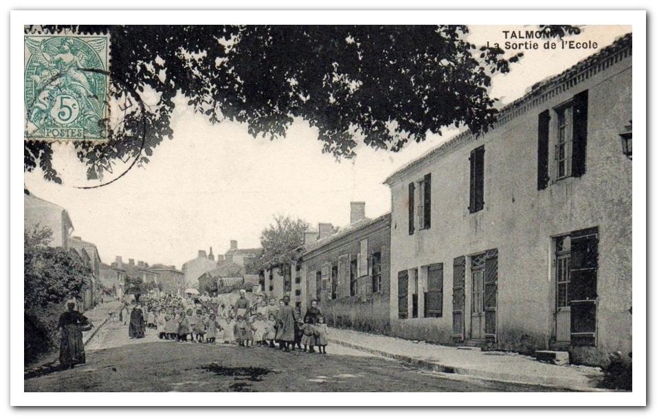 Talmont au début du XXième siècle, l'avenue des Sables