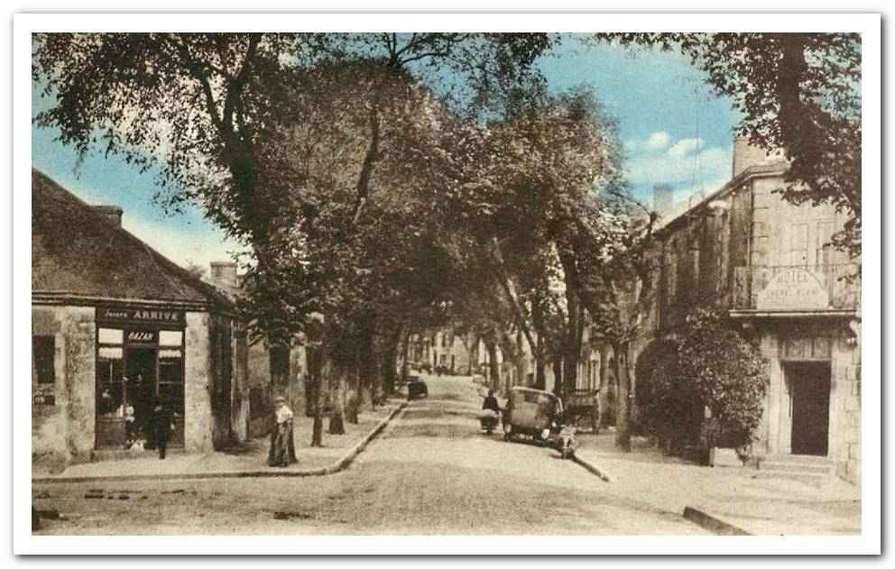 La rue Nationale à Talmont St Hilaire début XXème