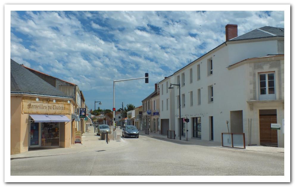 La rue Nationale à Talmont St Hilaire en 2014