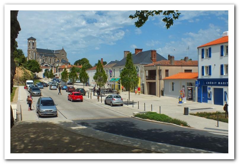 La place du Château à Talmont Saint Hilaire (Vendée) aujourd'hui