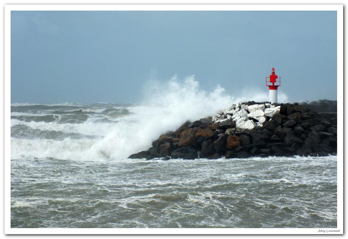 Tempête Hans à Port Bourgenay