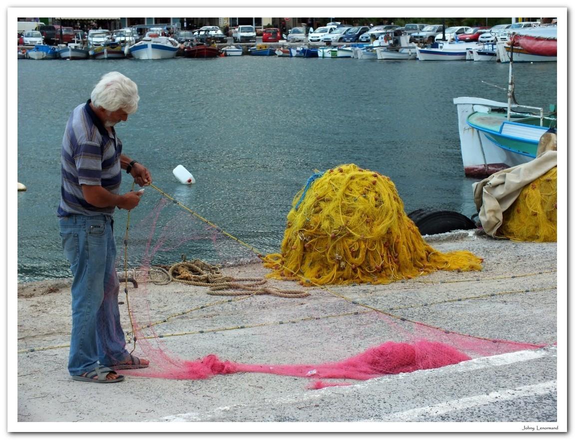Port d'Elounda en Crète