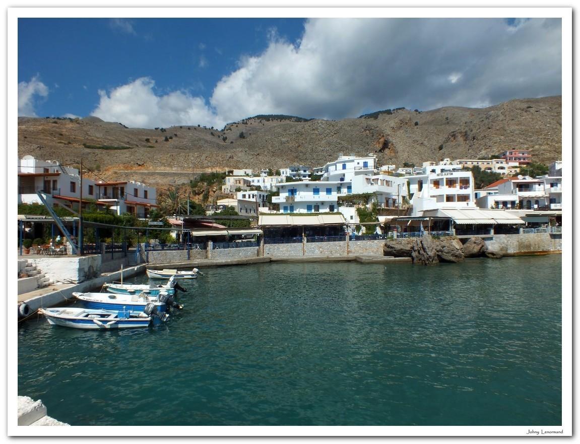 Port de Chora Skafion en Crète