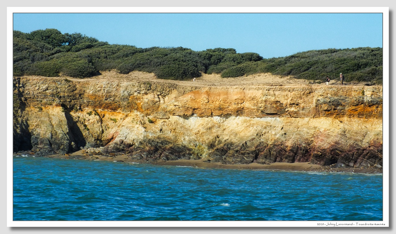 Les falaises entre la pointe du Payré et la Mine