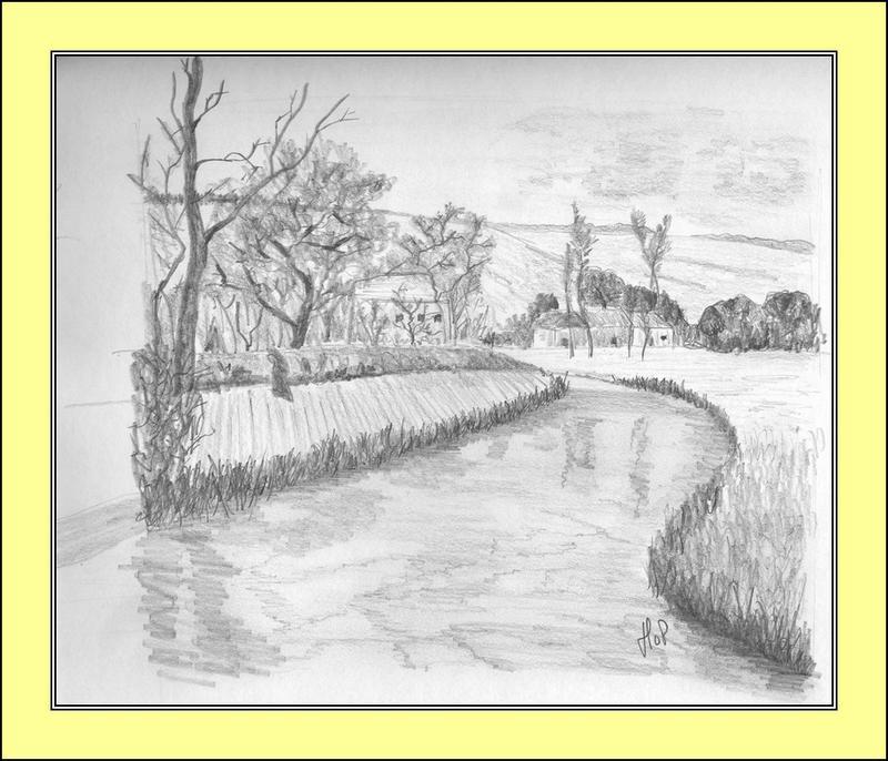 Rivière, dessin de johny lenormand