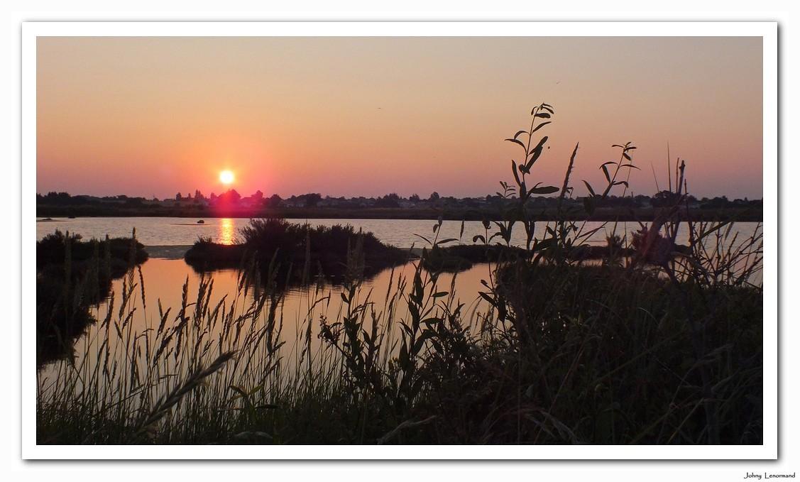 Lever de soleil sur le marais de la Guiitière