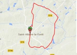 Carte rando à St Hilaire la Forêt