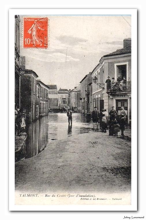 Inondation à Talmont au début du XXième siècle