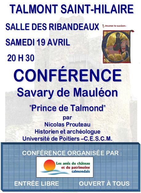 Affiche conférence Savary de Mauléon
