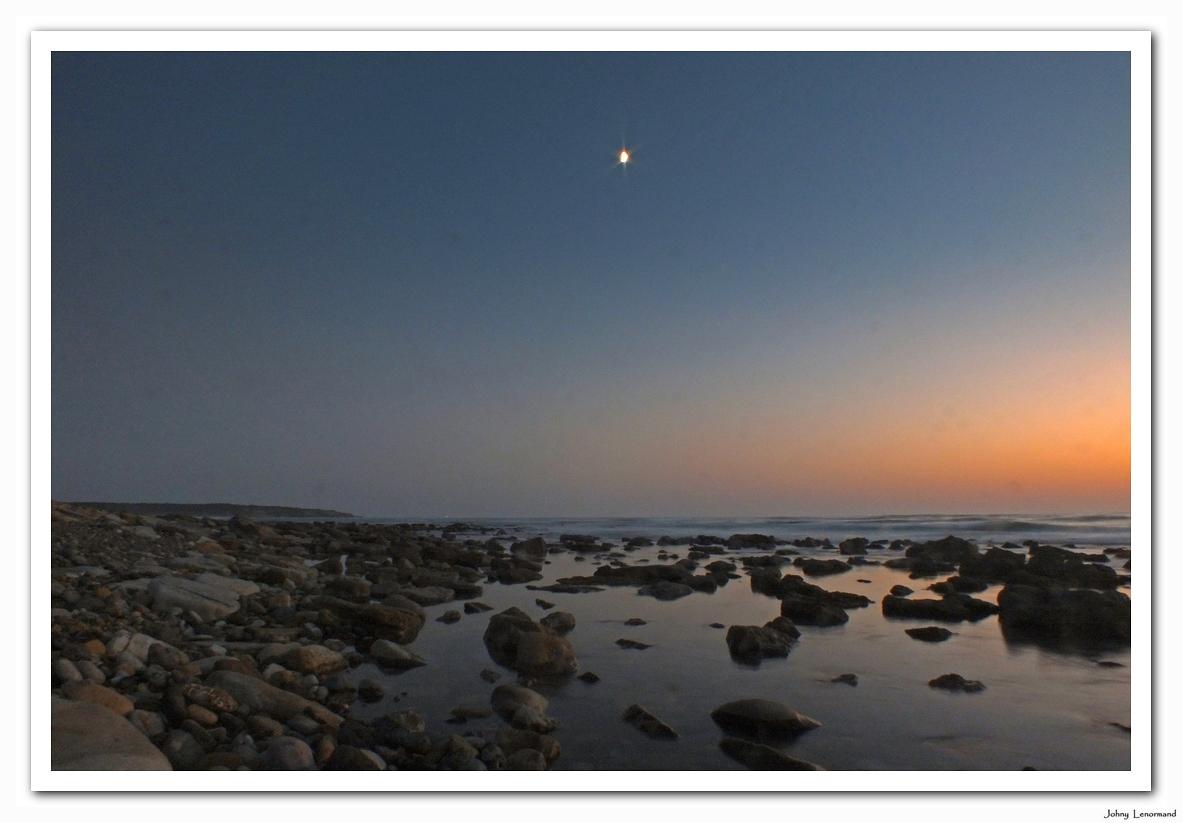 Clair de lune sur l'estran à Talmont Saint Hilaire