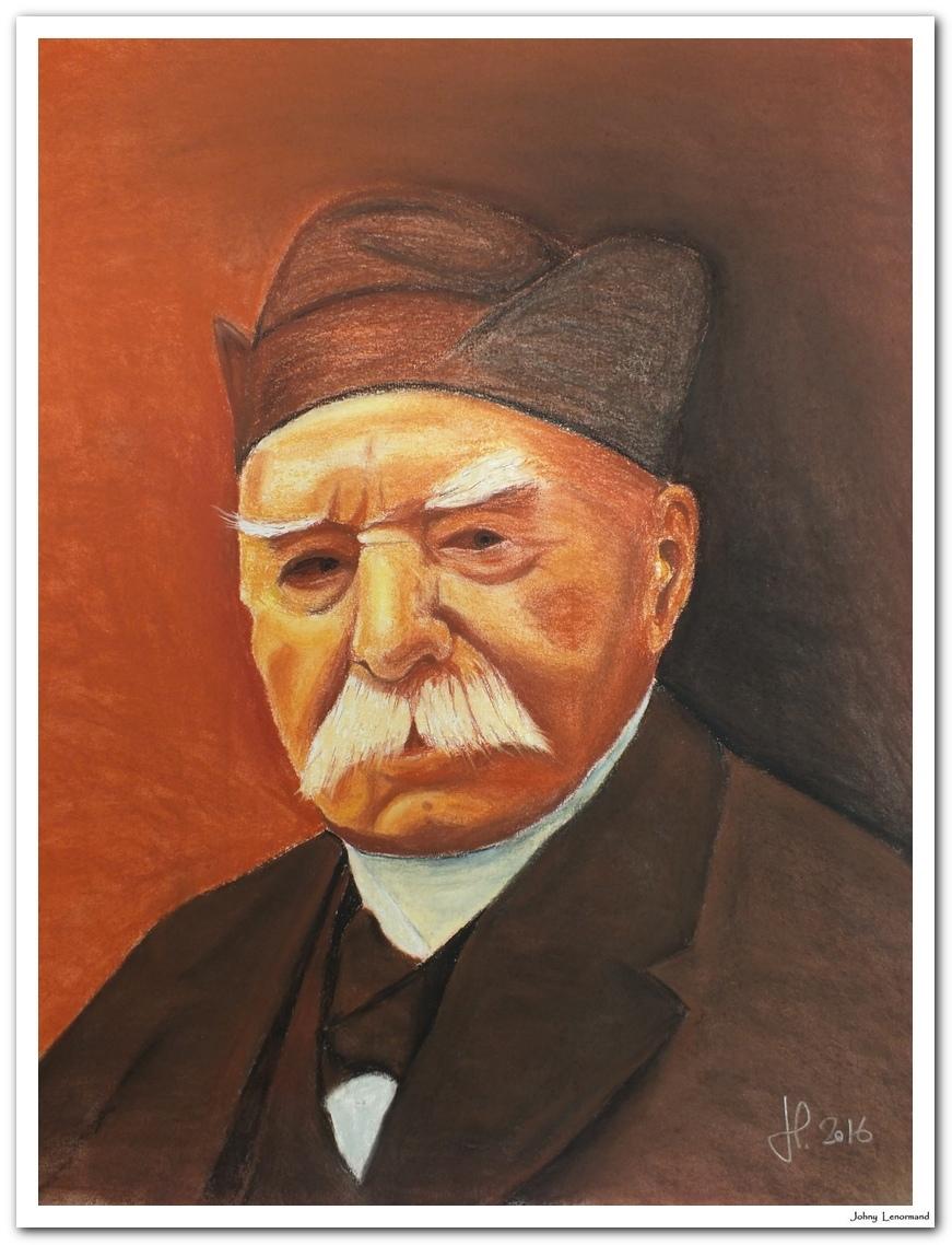 Portrait de Clemenceau, sanguine et pierre noire