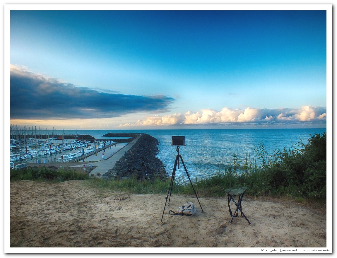 Prise de vue à Port Bourgenay (Vendée)