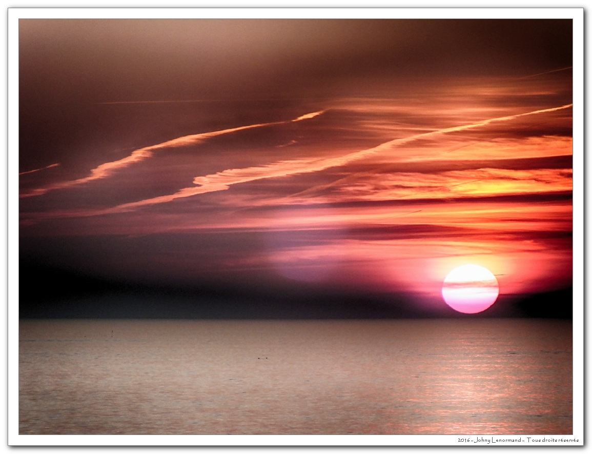 Coucher de soleil en baie de Cayola