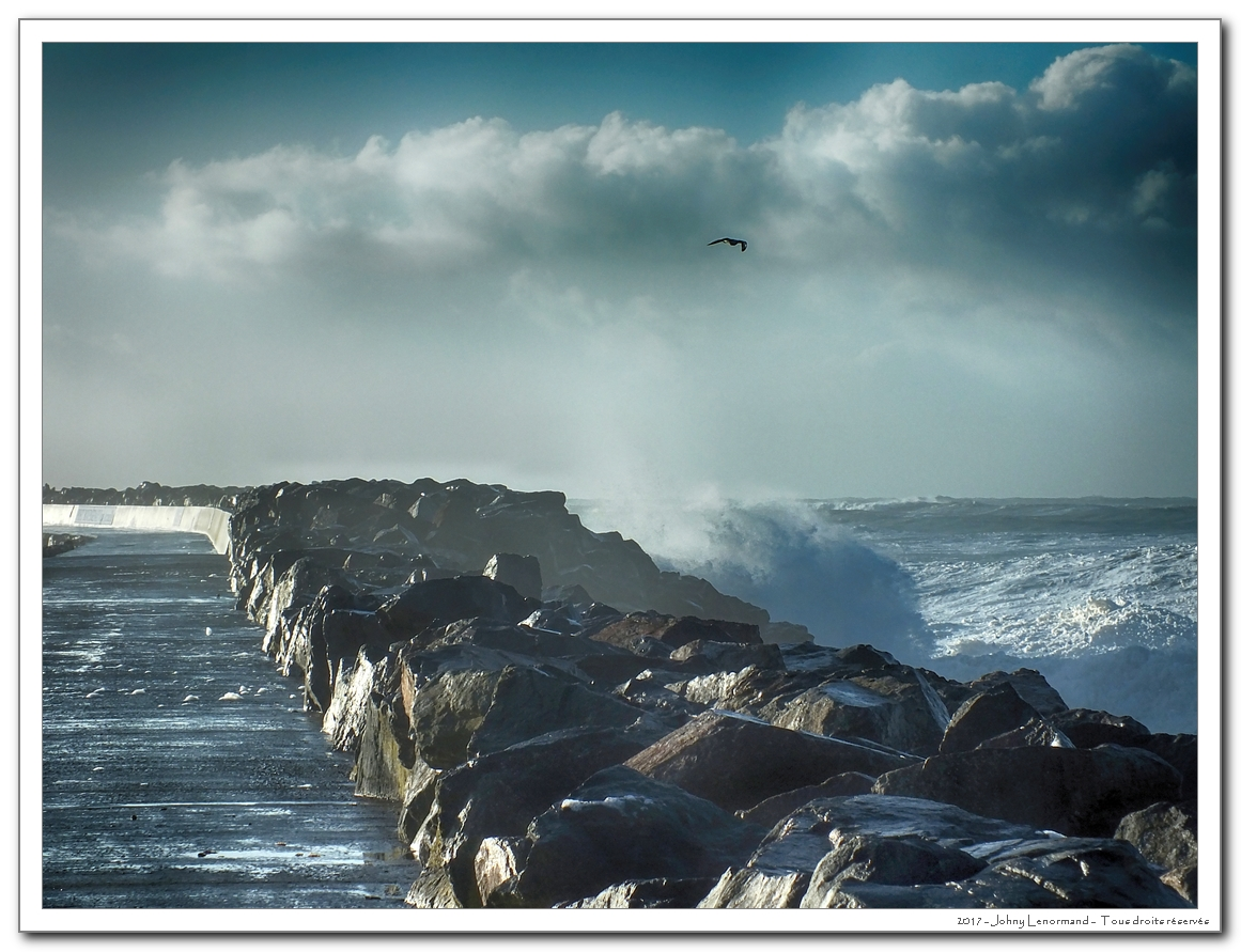 Tempête Leiv à Port Bourgenay