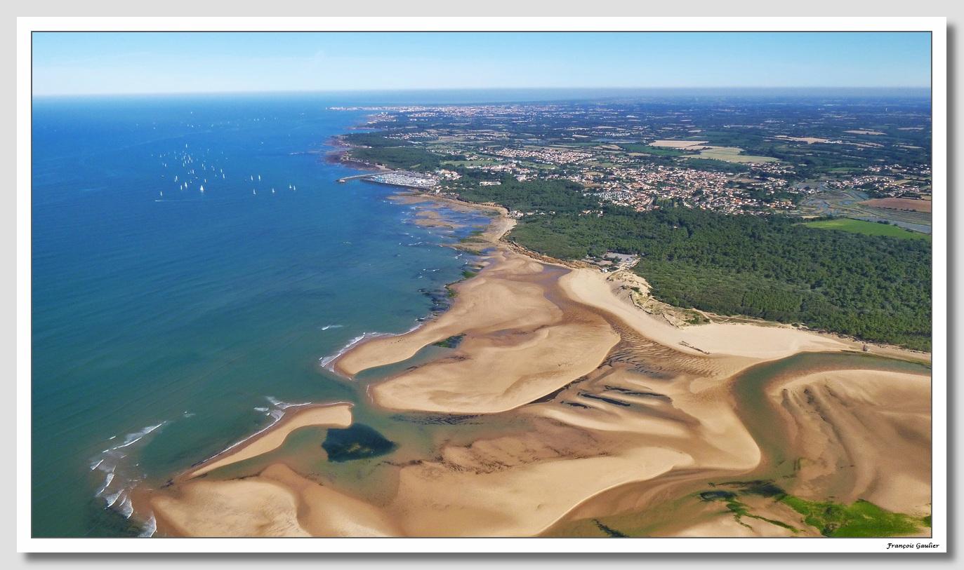 Vue aérienne du Talmondais