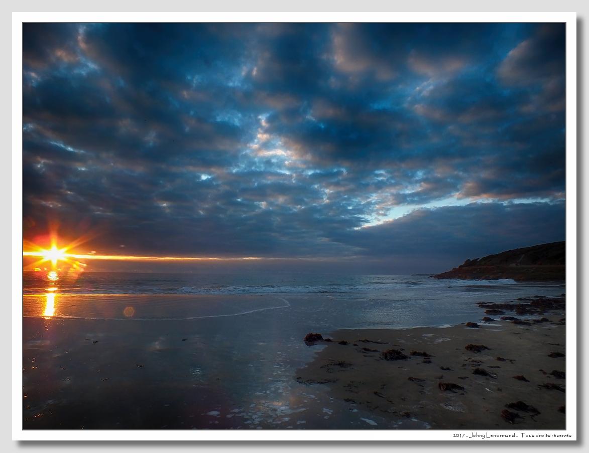 Coucher de soleil au Veillon, Talmont Saint Hilaire, Vendée