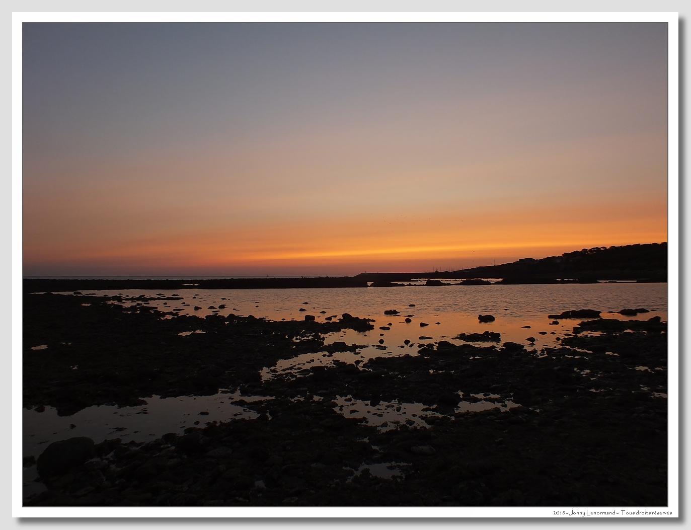 Coucher de soleil sur Port Bourgenay