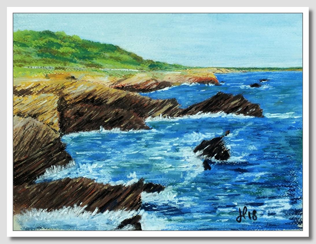 La côte talmondaise aux pastels secs