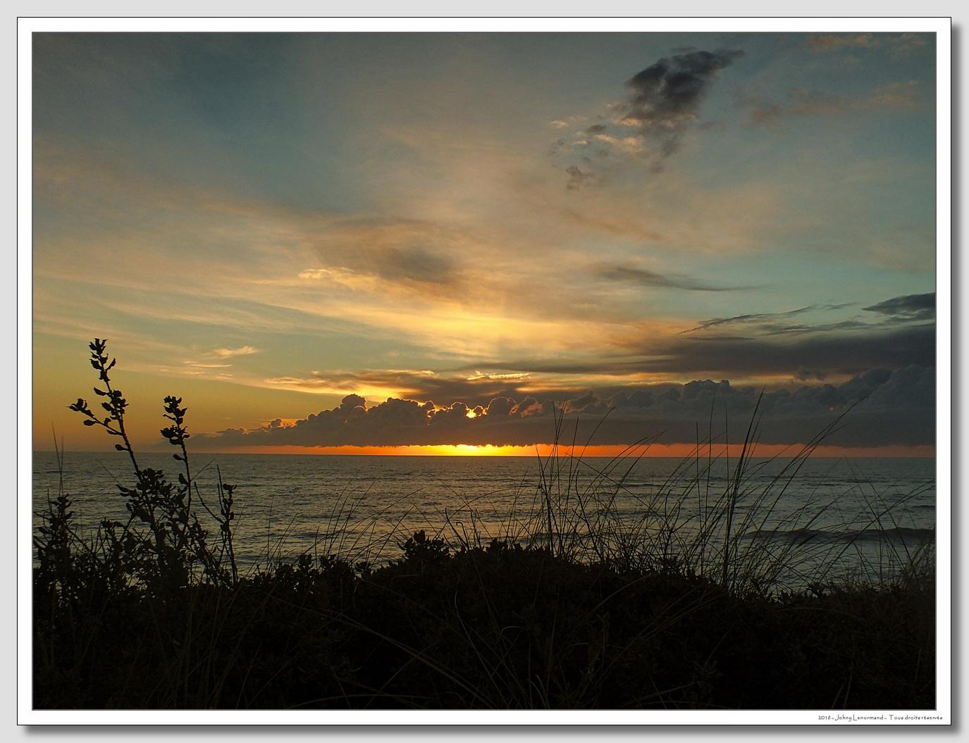 Soleil couchant sur l'Atllantique