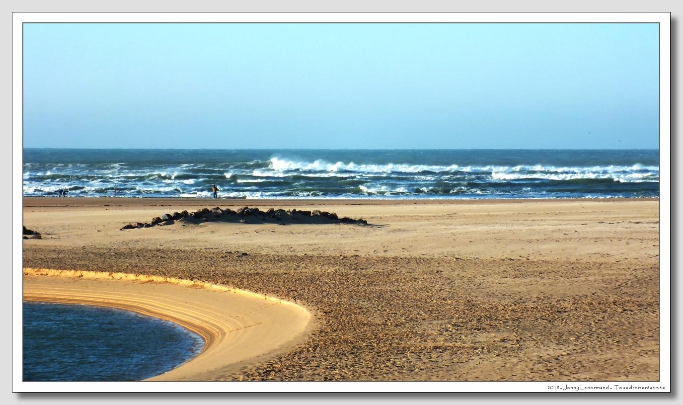 Houle sur l'océan au Veillon