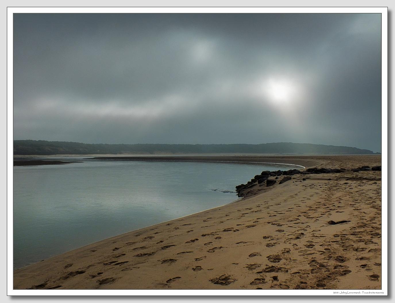 Ciel gris sur le Payré à Talmont Saint Hilaire (Vendée)