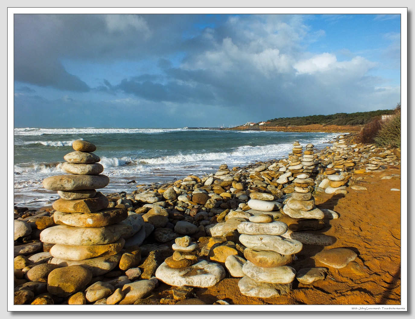 Sur la côte à Talmont Saint Hilaire (Vendée)