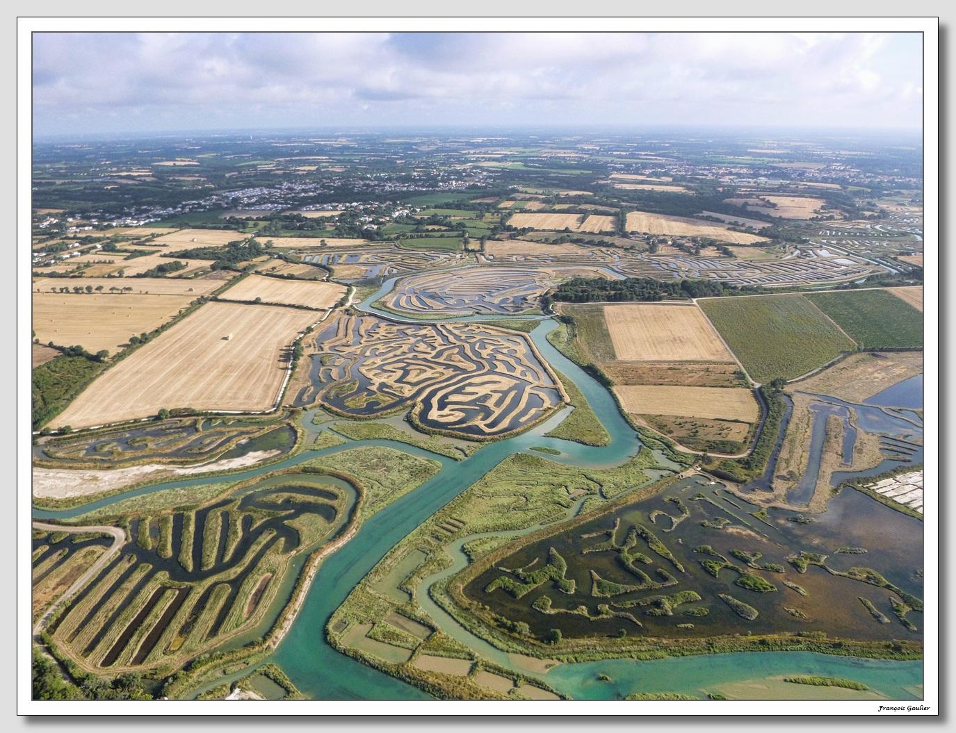 Les marais à Talmont Saint Hilaire (Vendée)