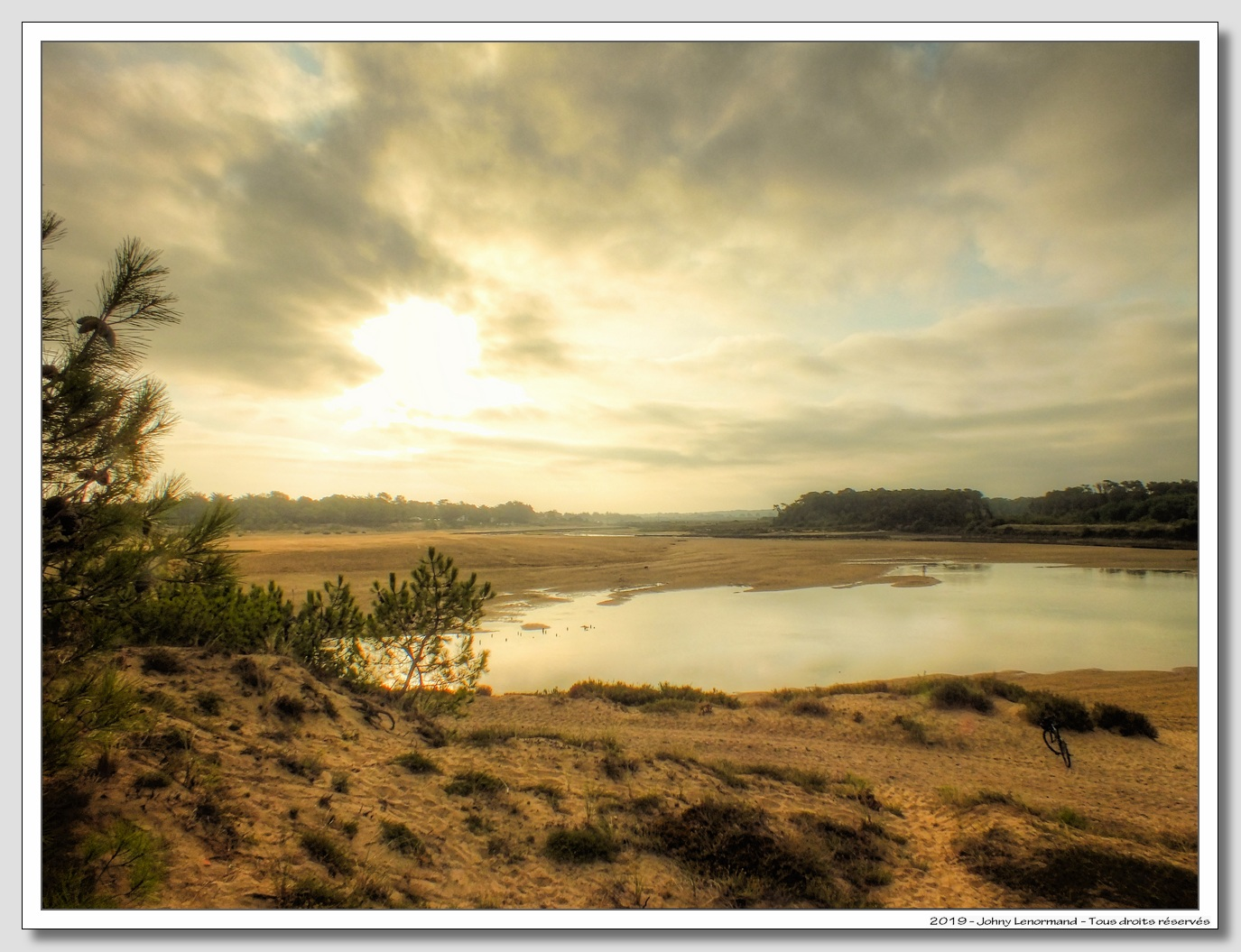 Le Port de la Guittière dans la brume matinale