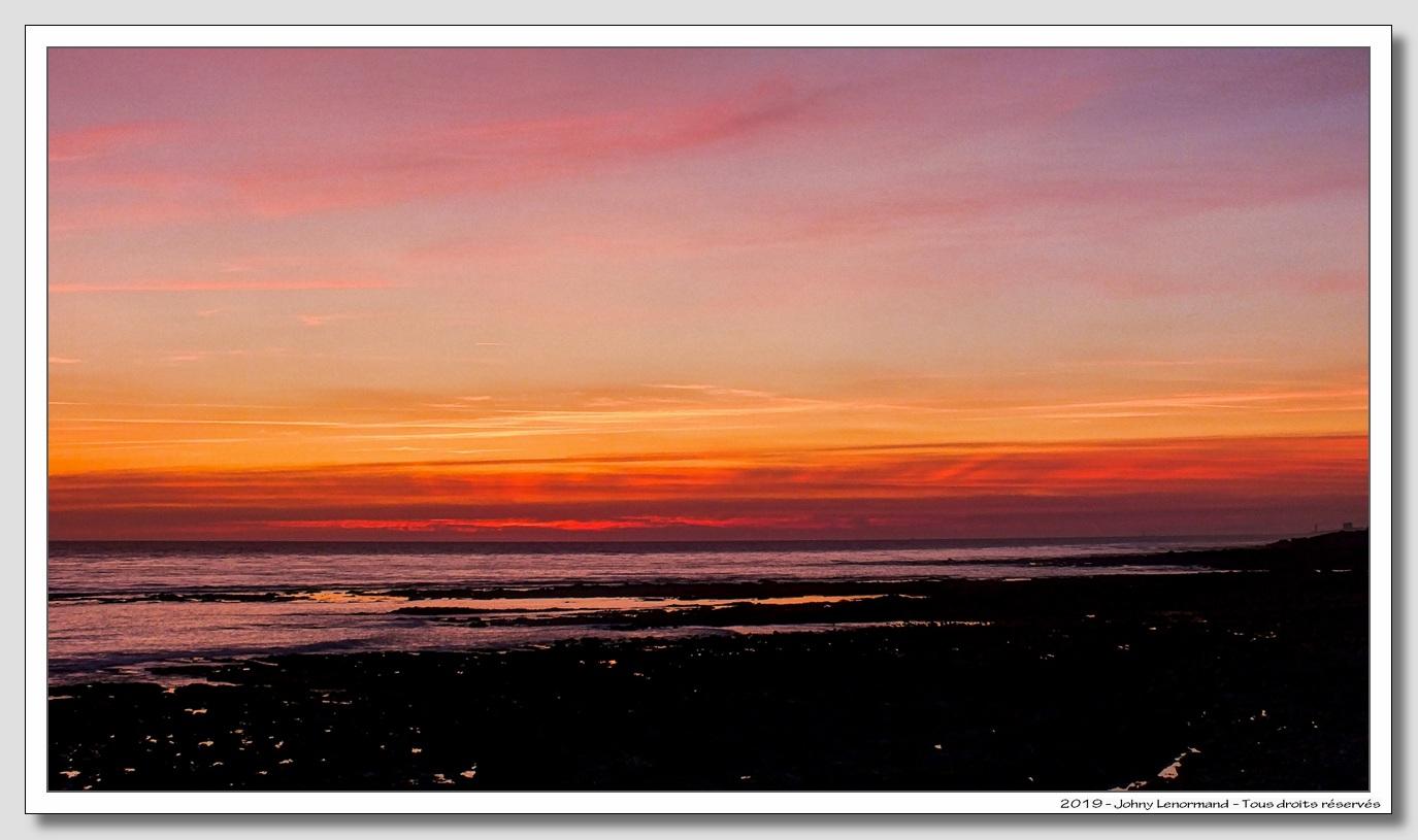 Coucher de soleil sur la côte talmondaise (Vendée)
