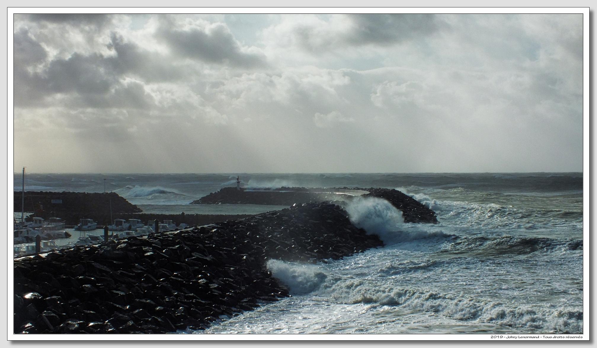 Tempête Amélie à Port Bourgenay (Vendée)
