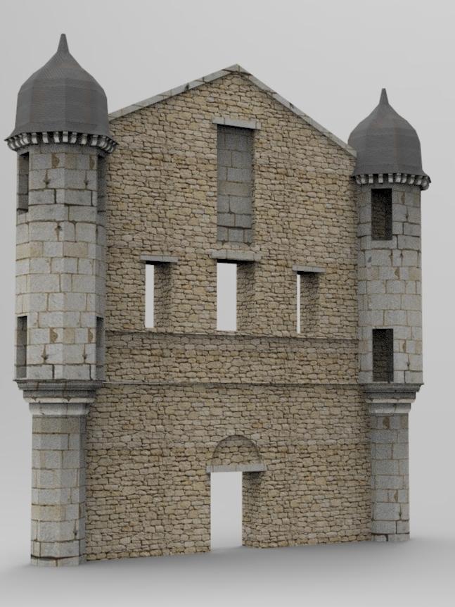 3D du pignin de l'abbaye de Lieu Dieu