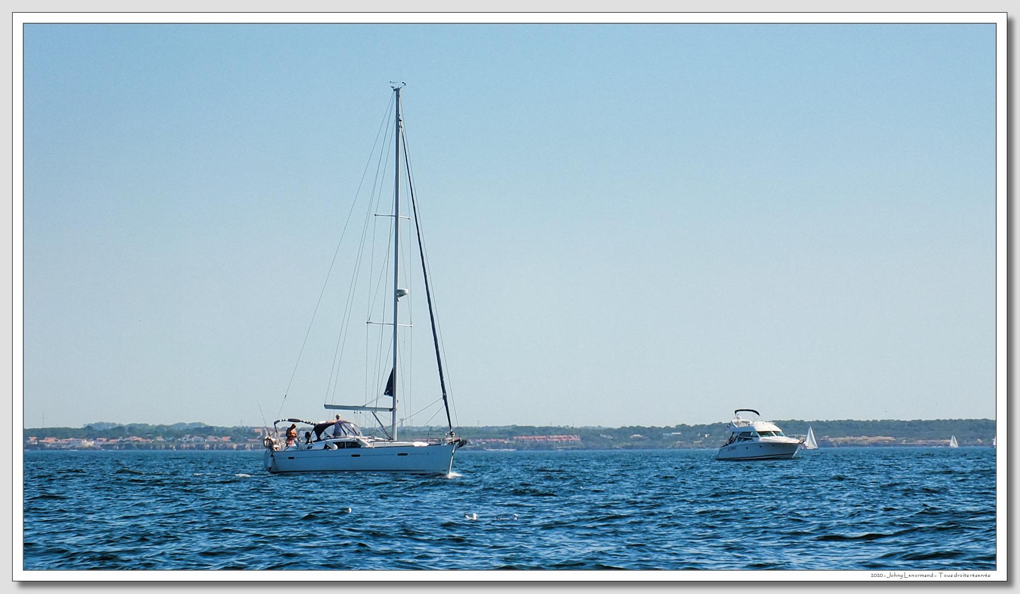 Pêche en mer au large de Port Bourgenay (Vendée)