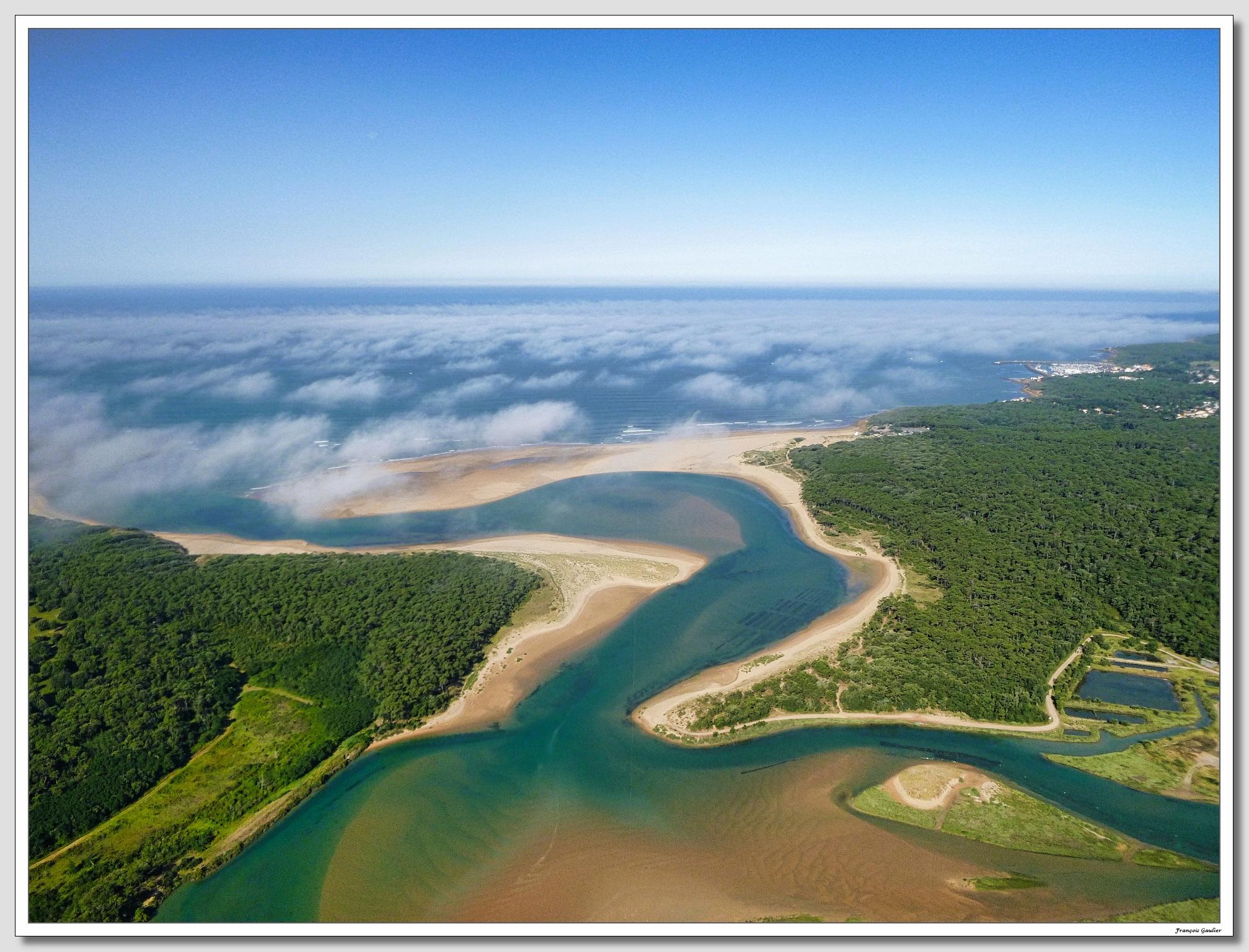 L'estuaire du Payré et le Veillon à Talmont Saint Hilaire (Vendée)