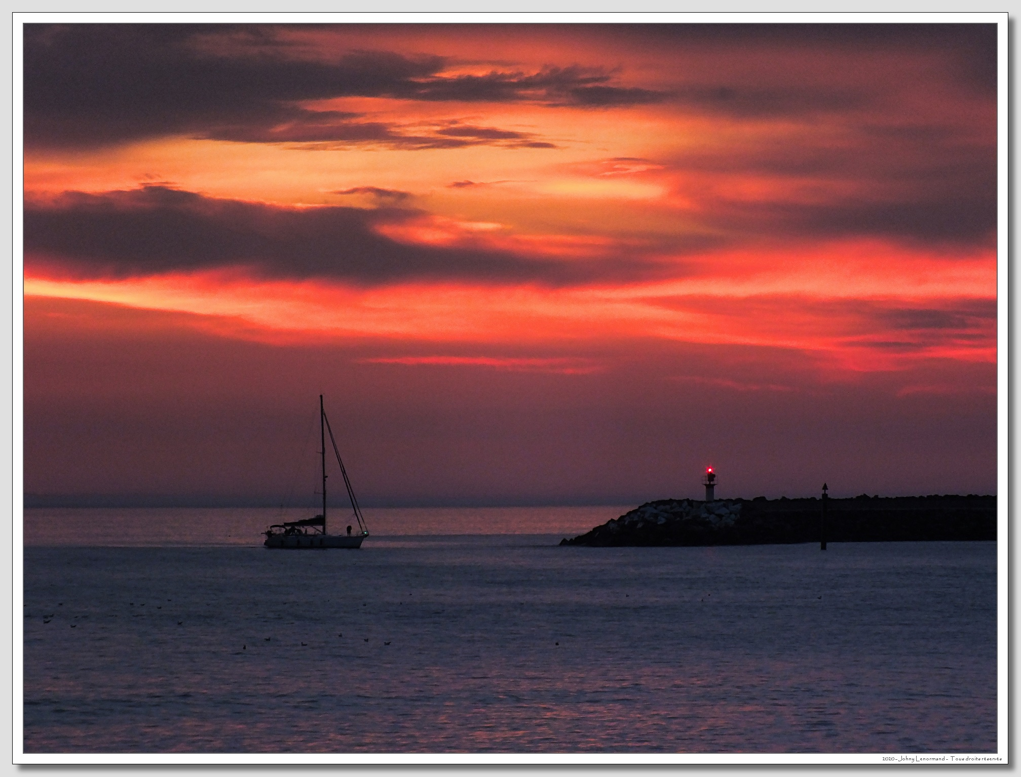 Coucher de soleil sur Port Bourgenay, Talmont Saint Hilaire, Vendée