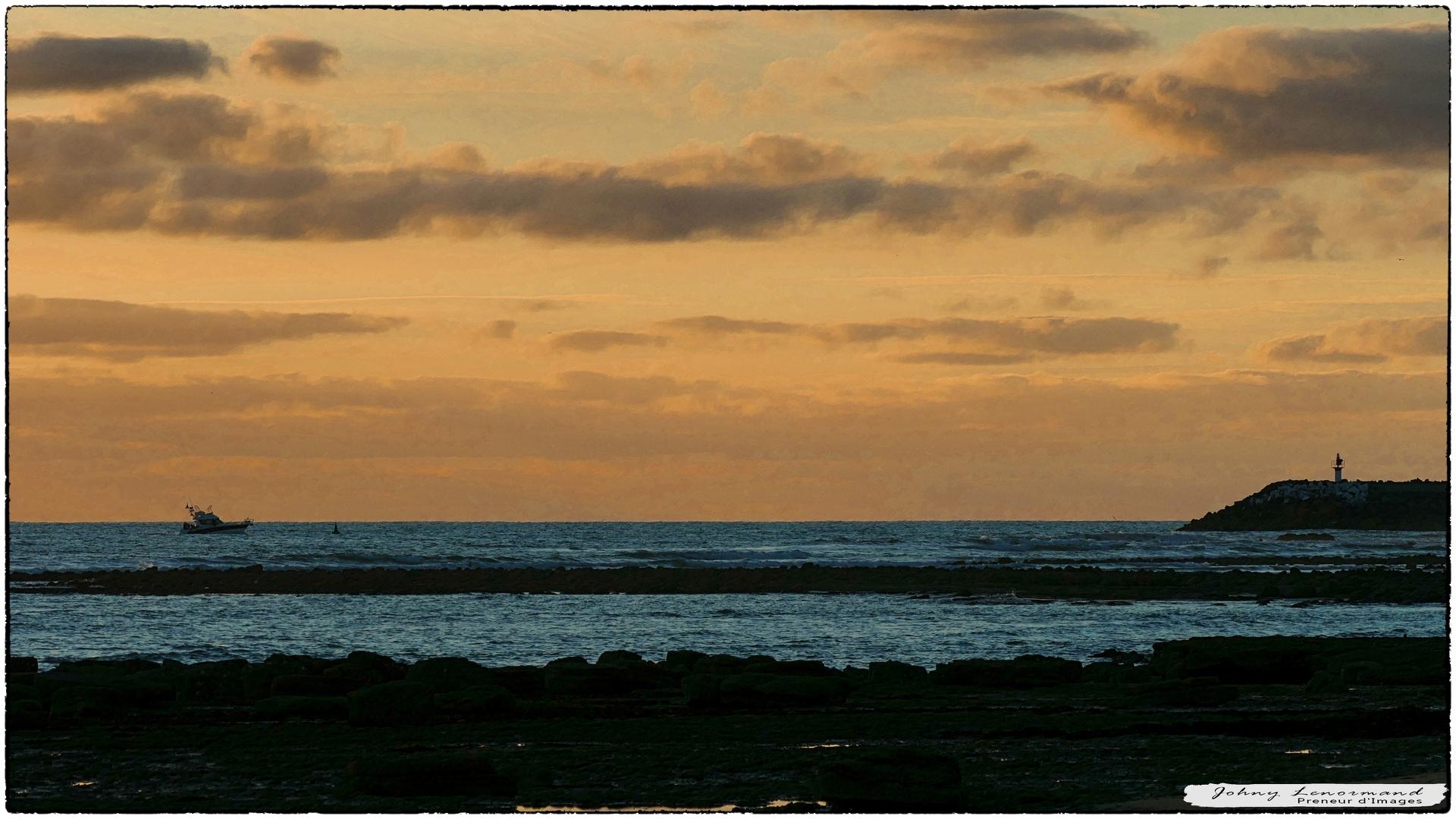 Crépuscule sur Port Bourgenay